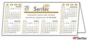 Calendario  sobremesa pvc para publicidad