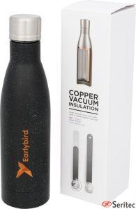 Botella publicitaria con aislamiento de cobre moteada