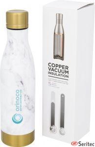 Botella publicitaria con aislamiento de cobre aspecto de mármol