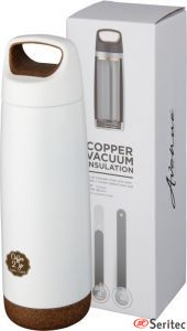 Botella deportiva con aislamiento de cobre publicitaria