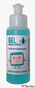 Botella gel hidroalcohólico higienizante manos 100 ml