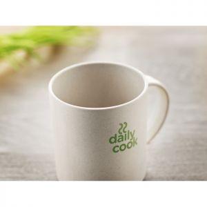 Taza publicitaria eco friendly bambú y PLA 300 ml