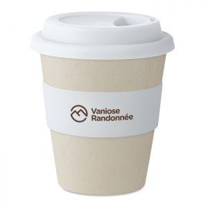 Vaso publicitario de cascara de café y bambú