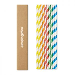 Set 10 pajitas personalizadas de papel