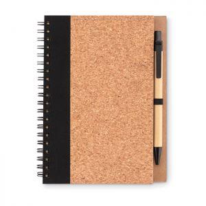 Libreta personalizable con bolígrafo tapa corcho