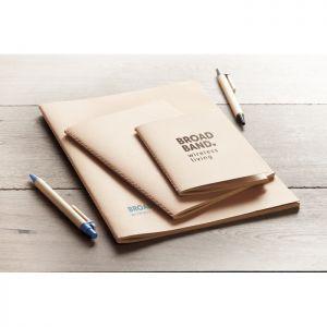 Libreta A6 publicitaria con tapa de papel