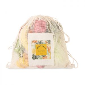 Bolsa algodón personalizable bolsillo rejilla