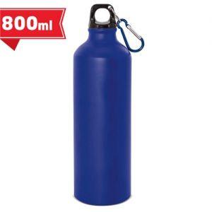 Botella de aluminio publicitaria con mosquetón 800 ml.
