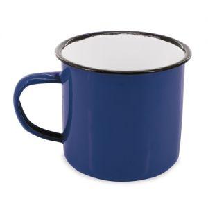 Taza mug estilo retro de metal esmaltado personalizada