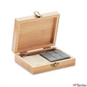 Caja de regalo de bambú publicitario