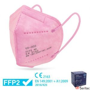 Mascarilla desechable FFP2 color rosa
