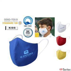 Mascarilla higiénica reutilizable infantil publicitaria