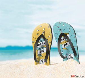 Chanclas playa sublimación personalizadas
