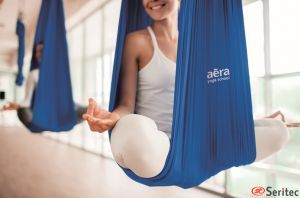 Hamaca de aero yoga / pilates publicitaria