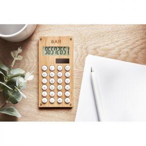 Calculadora bambú de 8 dígitos publicitaria