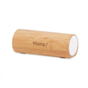 Altavoz bambú inalámbrico 2x5W publicitario