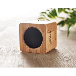 Altavoz inalámbrico de bambú personalizado