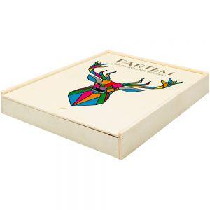 Caja para libreta personalizada