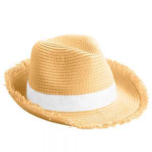 Sombrero de paja con cinta personalizada