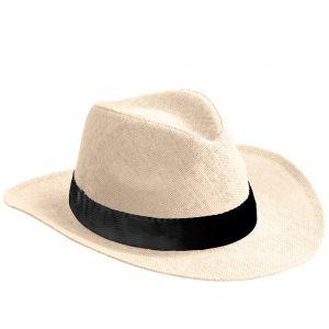 Sombrero de papel con cinta personalizada