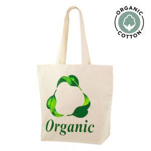 Bolsa de algodón orgánico publicitaria