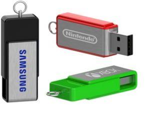 Mini USB con acollador publicitario
