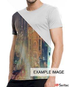 Camiseta hombre manga corta personalizable por sublimación