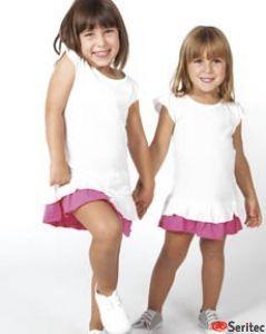 Vestido niña maga corta personalizable