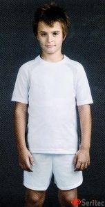 Camiseta infantil manga corta personalizable