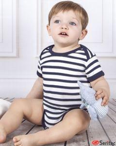 Camiseta rayas bebé personalizable