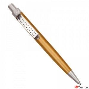 Bolígrafo metalizado con clip metal
