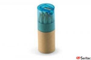 12 lápices de color en tubo