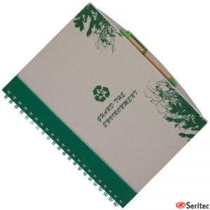 Cuaderno reciclado tamaño A4 personalizado