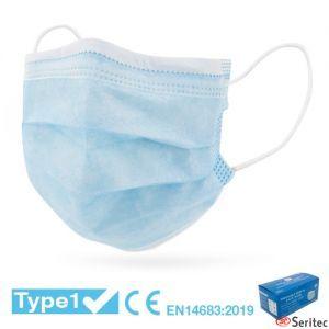 Mascarilla médica quirúrgica desechable Tipo I