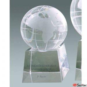 Cristal Bola Mundo Pequeña