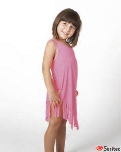 Vestido con flecos niña personalizable