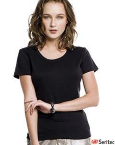Camiseta manga corta mujer personalizable