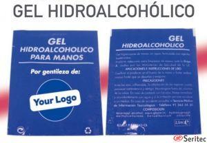 Sobre gel sanitario limpieza hidroalcohol