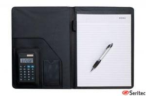 Portafolios A4 con calculadora