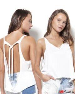 Camiseta mujer tirantes con espalda al aire personalizable