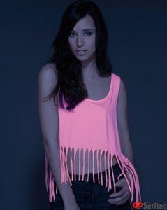 Camiseta mujer tirantes con flecos personalizable