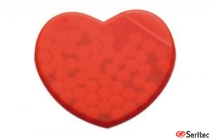 Caja corazón de caramelos
