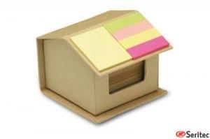 Notas adhesivas en cartón rec