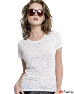 Camiseta mujer de manga corta extrasuave personalizable con estampado por sublimación