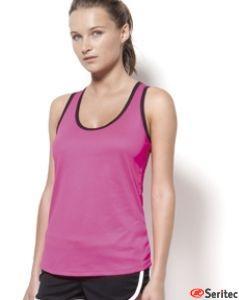 Camiseta técnica corte nadadora con tecnología quick dry personalizable