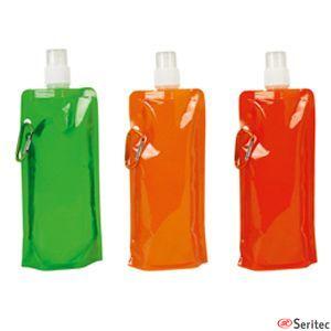 Botella de plástico publicitaria