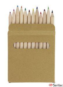 Caja de 12 lápices publicitaria