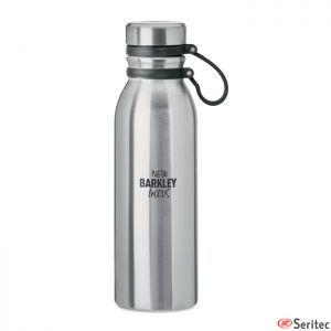 Termo de acero inoxidable sin BPA con agarre de silicona publicitario