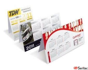 Calendario sobremesa material plástico ( pvc )