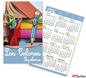 Tarjeta calendario de bolsillo personalizado